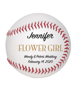 Flower Girl Custom Baseball Wedding Gift - Personalized Wedding Favor - $34.95