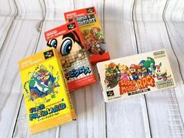 Set of 4 Mario Nintendo Super Famicom JP Game SFC Direct From Japan w/Ca... - $82.35