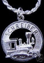 LOOK Rare  Schreiber Train Solid Sterling Silver Charm Jewelry Railway s... - $13.04