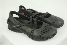 Skechers Black Rubber Mary Jane Velcro Fastener Size 6 - $18.50