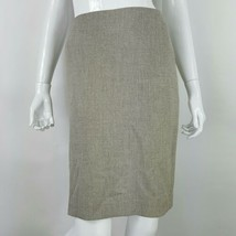 Anne Klein Womens 10 Tan Career Pencil Skirt Suit Separate Back Split Li... - $13.01