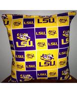 LSU Pillow Louisianan State University Pillow Football Pillow NCAA HANDM... - $9.99