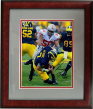 Vernon Gholston signed Ohio State Buckeyes 16x20 Photo Custom Wood Frame... - $98.95