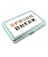 Spring Break D4 Silver Metal Cigarette Case RFID Protection Wallet - $11.83