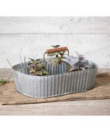 Farmhouse tin Caddy w/Divider in weathered zinc - $42.66