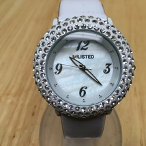 Unlisted By Kenneth Cole Beefy Rhinestone Analog Quartz Watch Hours~New ... - $17.09