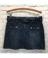 C'est la Vie Stretch Denim Mini Skirt Size 11 Waist 31 Distressed Vintag... - $19.30