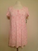 Charter Club Women's Cotton Knit Sleepshirt 13125 Animal Hearts Pink Small - $13.05