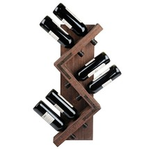 "Hand Crafted Wood ""Zig-Zag""  6 Botle Wine Rack,11'' x 28''H. - $77.22"