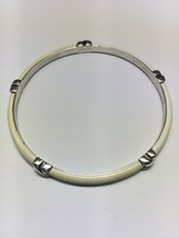 "TIFFANY & CO. Sterling Silver Cream Enamel Bangle Bracelet (7.75"" Interior) - €264,25 EUR"