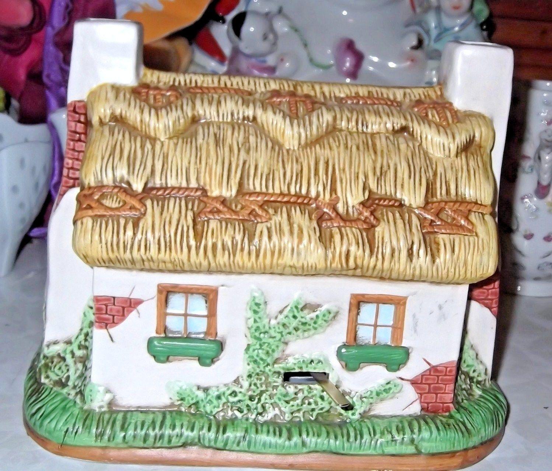 "Lefton Ceramic Irish Musical Cottage "" I will take you home again Kathleen"""
