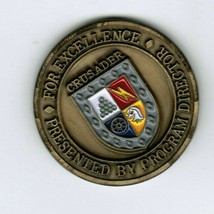 United Defense L.P. Team Crusader Program Director Challenge Coin Army SPH - $50.00