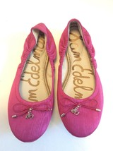 Sam Edelman Womens Size 6 Felicia Pink Purple Magenta Knit Ballet Flats Shoes - $69.29