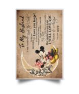 Mickey & Minnie To My Husband I Wish I Could POSPO Satin Portrait Poster - $19.00+