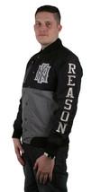 Raison Ny Vêtements Noir et Argent Monde Classe Ras Ripstop Veste Université Nwt image 2