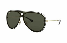 Ray Ban RB3605N 187/71 White/Black Green Classic 32mm Unisex Pilot Sunglasses - $116.93