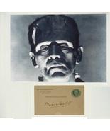 BORIS KARLOFF SIGNED PAGE & PHOTO - Frankenstein - The Mummy  w/COA - $979.00