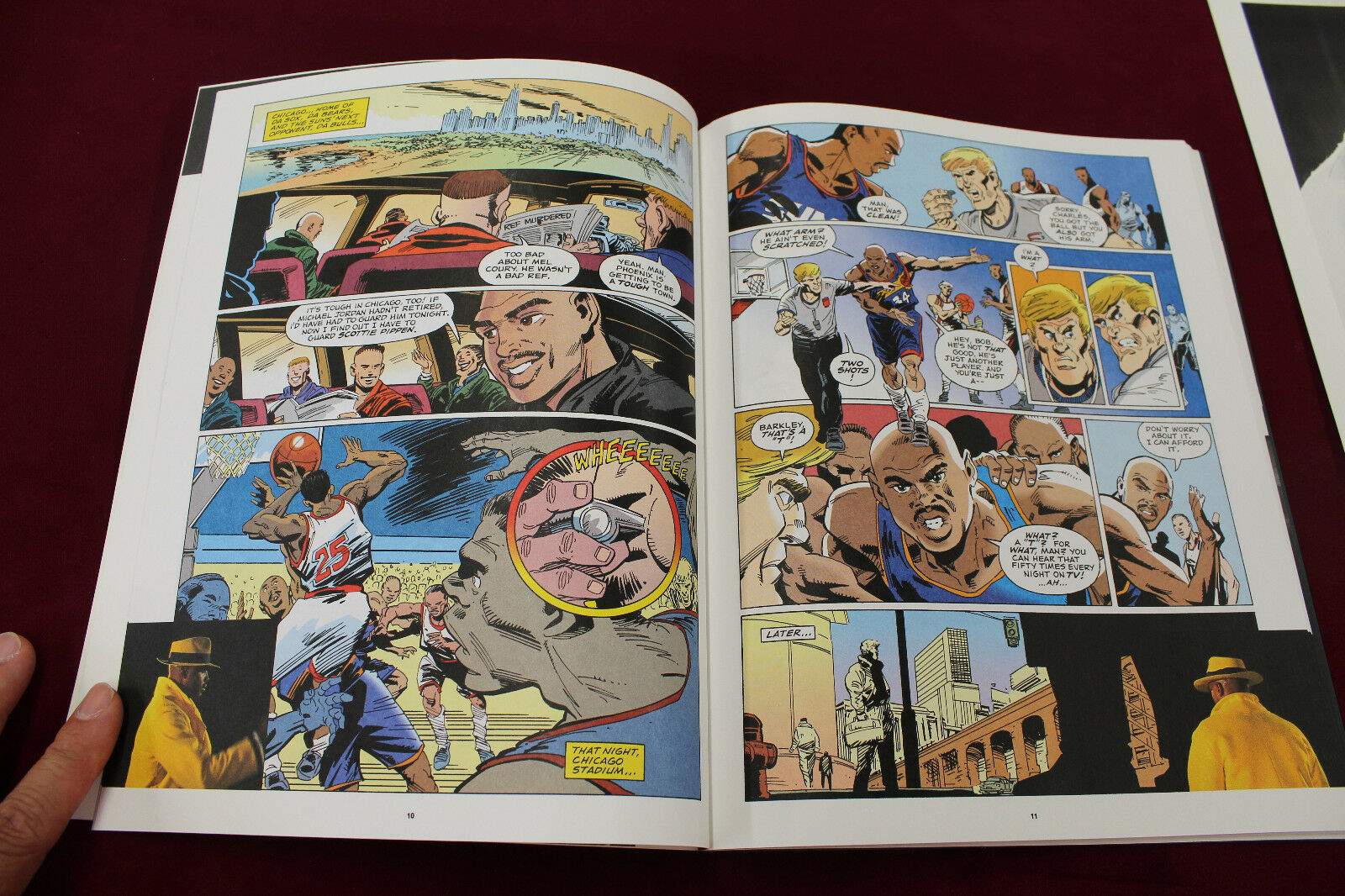 Charles Barkley SIGNED Referee Murders Comic Book 32/99 W Stamp Sheet 76ers