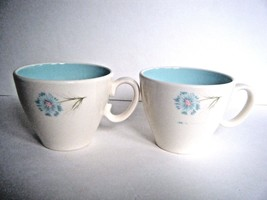 Ever Yours Boutonniere Taylor Smith Taylor Coffee Cups Set Of Two Mid Ce... - $7.87