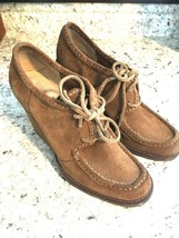 FRYE Caroline Lace Low Brown Suede Ankle Wedge Bootie Heel Boots Size 7.... - $59.35