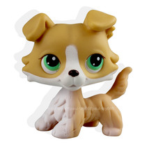 Animal Littlest Pet yellow Collie Dog Puppy Blue Eyes Figure Toy lps 272 - $17.99