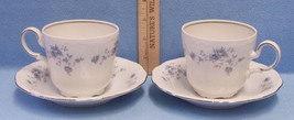 Vintage Johann Haviland Blue Garland Cups & Saucers Bavaria Germany Mark... - $17.81