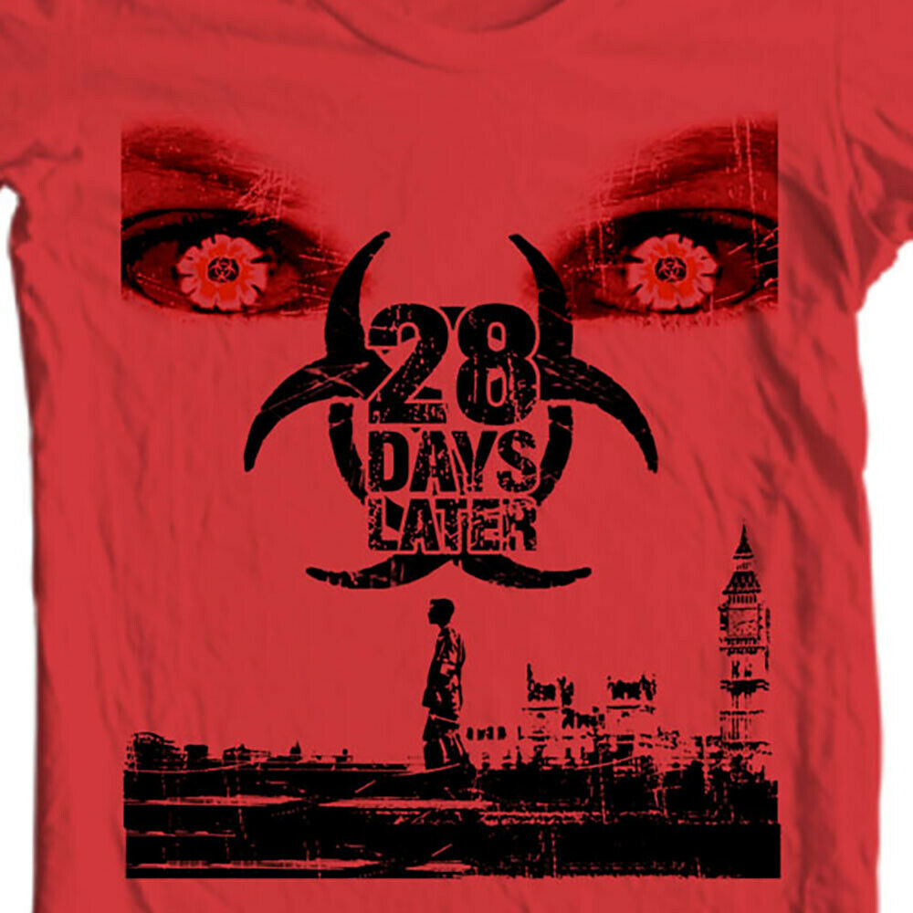 28 Days Later t-shirt horror zombie movie graphic tee rage virus 28 weeks