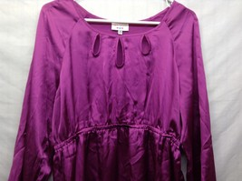 Labor of Love Purple Long Sleeve Maternity Blouse Sz LG image 2