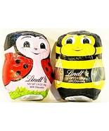 Lindt Easter Set of 2 Ladybug & Bumblebee Hollow Milk Chocolate 1.4 oz C... - $14.80