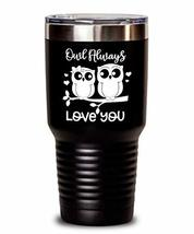 Valentine's Day Tumbler - I Love You - Owl Pun Double Wall Insulated Thermos for - $34.64