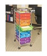 Rolling Cart Crafts Hobbies Drawer Organizer Mobile Storage Bins Multi-C... - $74.79