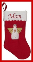 "17"" Personalized Embroidered Snow Angel Felt Christmas Stocking - $12.95"