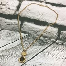 Womens Girls Fashion Jewelry Kitty Cat Pendant Gold-Tone Chain Mid Drop  - $9.89