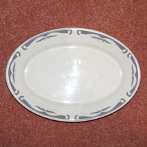 "VINTAGE HOMER LAUGHLIN RESTAURANTWARE GRAY BIRDS ABSTRACT PLATTER 10 3/4"" - $19.99"