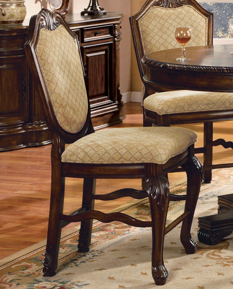 Brown Traditional 5 Piece Round Dining Set Cally: Traditional Brown Counter Height 5 Piece Dining Room Set