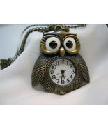 "L68, OWL, Ladies Watch, Bronze Body and Chain (28""), 1.5"" x 1.5"", wb - $15.99"