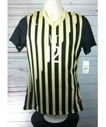 Nike VT Gold Black Striped Soccer Women's Jersey #12 - $17.99