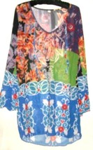 PRINTED V NECK TOP SIZE XL - $11.00