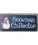 Primitive Wood Block 8317SC- Snowman Collector  - $4.95