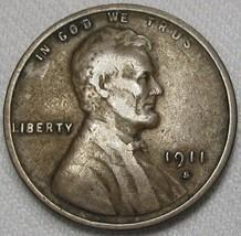 1911-S Lincoln Wheat Cent CH F Coin AE964 - $43.47