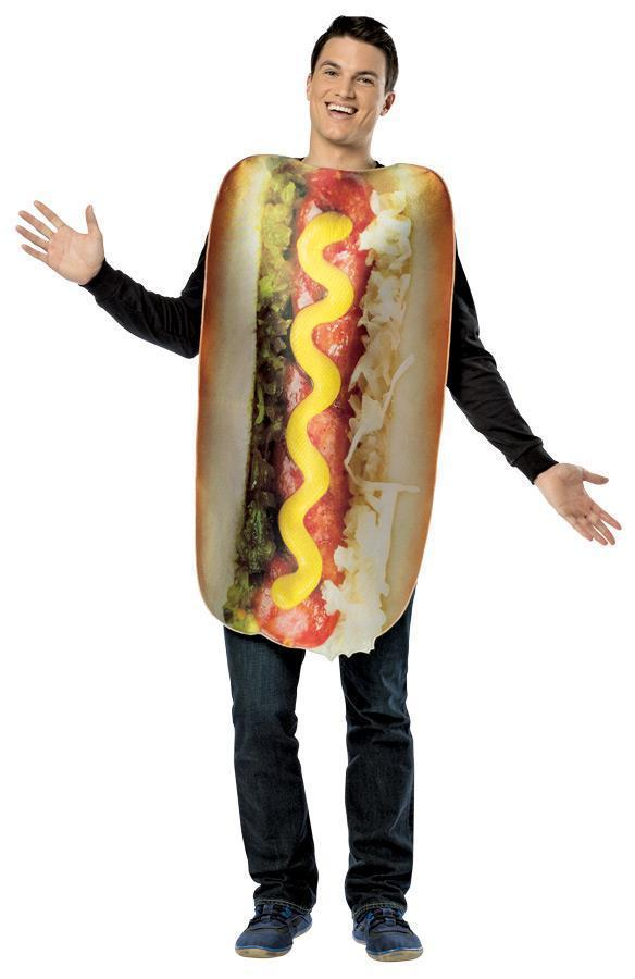 Hot Dog Costume Adult Food Get Real Loaded Halloween Party Unique GC6833