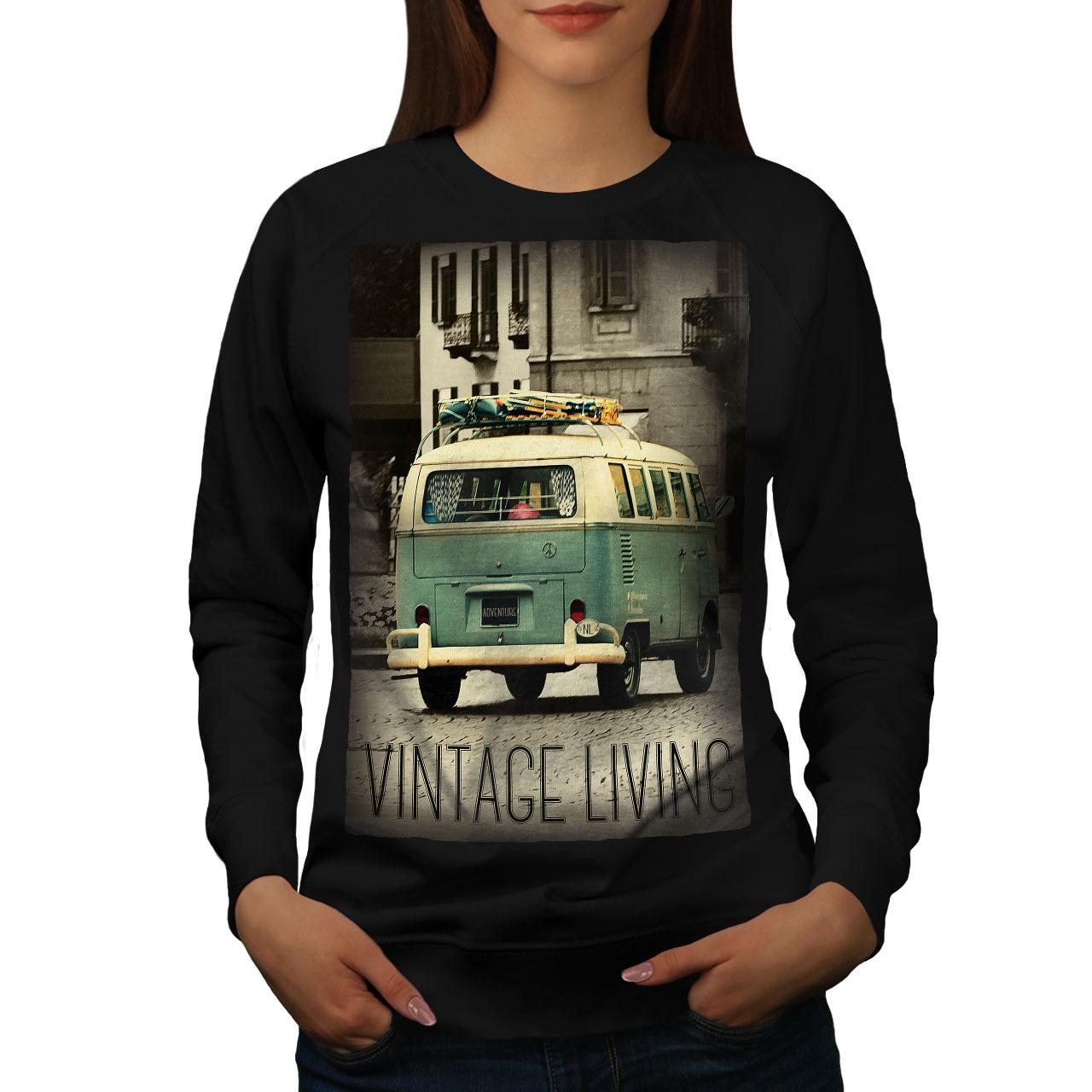 Truck Life Old Vintage Jumper Retro Car Driving Women Sweatshirt - $18.99