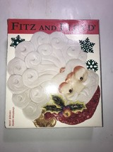FITZ & FLOYD OLD FASHIONED CHRISTMAS SANTA face PLATE with box! - $18.69