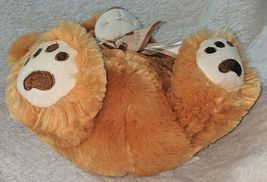 Woody Toys 76229S 10 Inch Burnt Orange Bear With A Paw Print Bow image 3