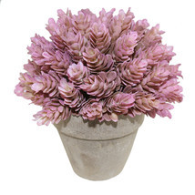 Small Artificial Topiary Plastic Plant in Pot Desk Decor Pink Pineapple ... - $9.65+