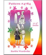 Newspaper Mail Order Pattern #4784 For Vintage Barbie Doll Clothes Wardrobe - $7.99