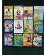Lot Of 12 Exercise DVDs - Yoga, Pilates, Kettleball, Billy Blank Boot Camp - $10.36