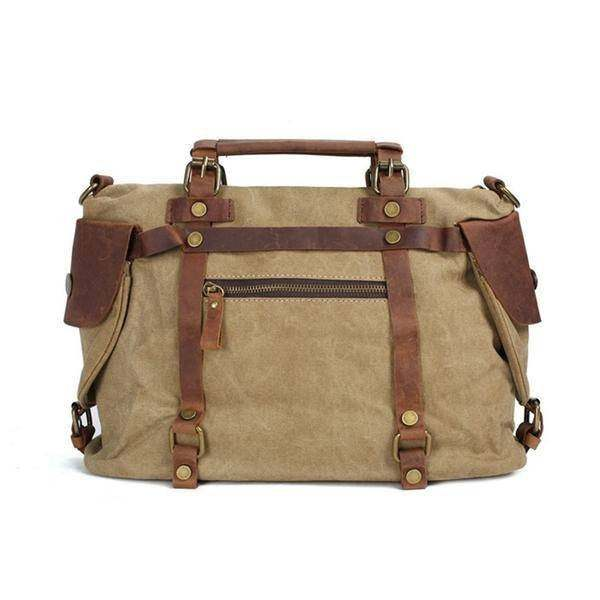 On Sale, Canvas With Leather Bag, Leather Briefcase, Messenger Bag, Shoulder Bag image 4