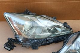 06-08 Lexus iS250 iS350 Halogen Headlight Lamps Set Left Right L&R POLISHED image 4