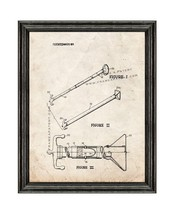 Combination Boat Hook and Pole Patent Print Old Look with Black Wood Frame - $24.95+
